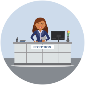 UKRFCU Receptionist Career opportunity graphic