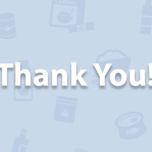 Food Drive – Thank you!