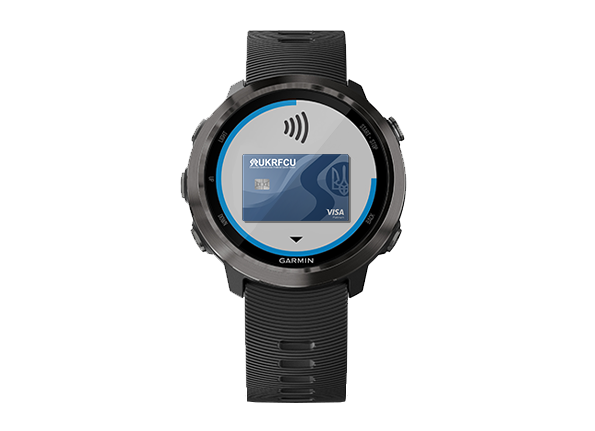 Garmin Watch with UKRFCU card example digital ewallet